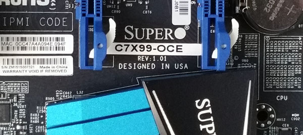 Supermicro C7X99-OCE Motherboard Model Plate