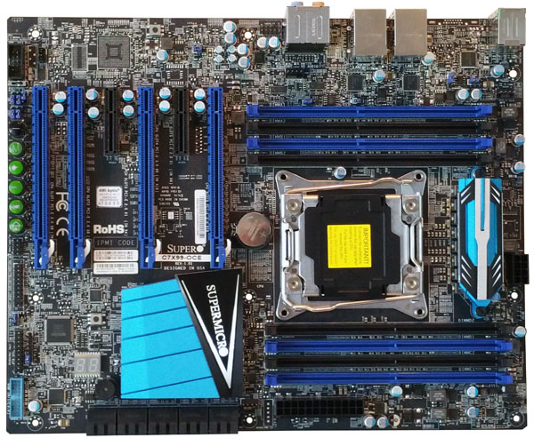 Supermicro C7X99-OCE Motherboard Top