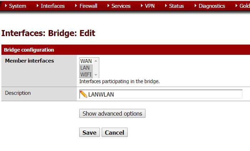 pfSense Wi-Fi Setup WAN LAN Bridge
