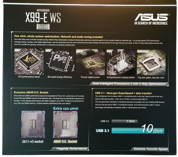 ASUS X99-E WS/USB 3.1 Inside Flap