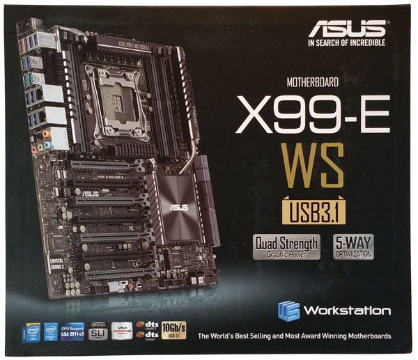 ASUS X99-E WS/USB 3.1 Retail Box Front