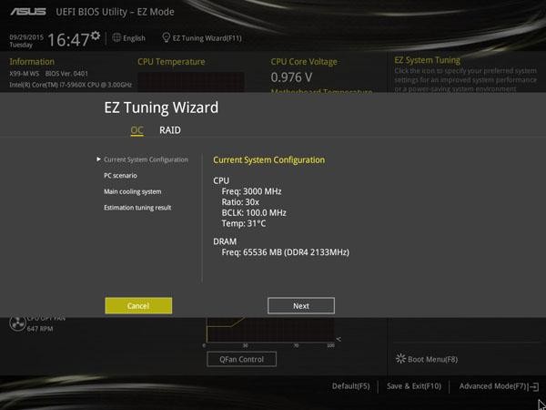ASUS X99-M WS EZ Tuning Wizard #1