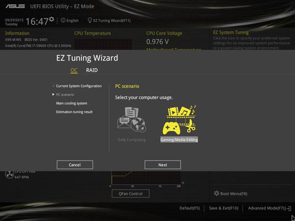 ASUS X99-M WS EZ Tuning Wizard #2