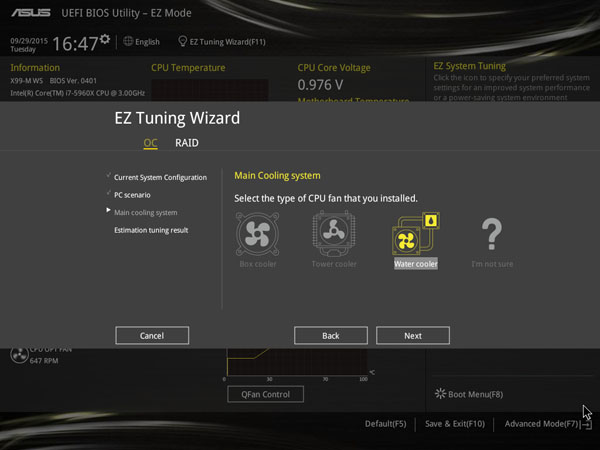 ASUS X99-M WS EZ Tuning Wizard #3