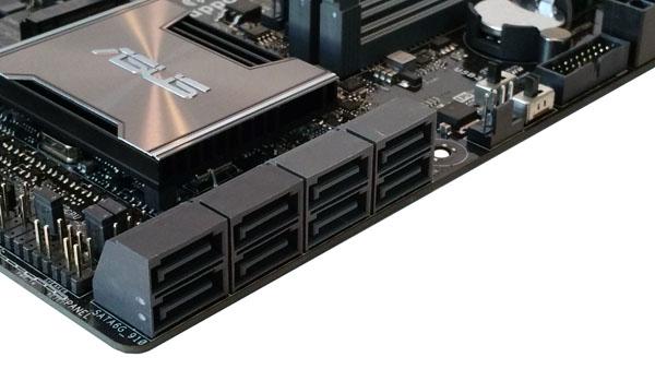 ASUS X99-M WS SATA Storage Ports