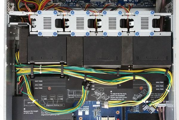 Gigabyte R280-G2O GPU Server - Cooling Shroud