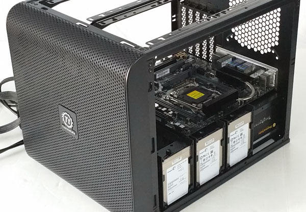 Micro-ATX Workstation Installing Motherboard and SSDs