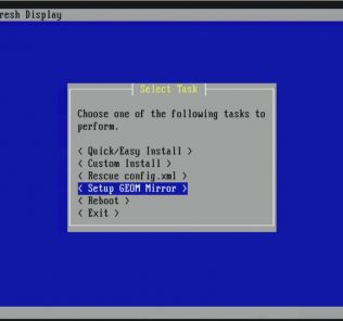 Setup Select Task Setup GEOM Mirror