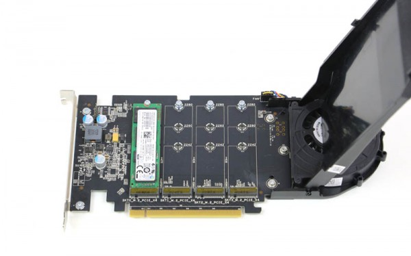 The Dell 4x m 2 PCIe x16 version of the HP Z Turbo Quad Pro