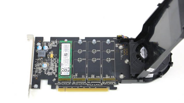 Dell 4x m2 NVMe Drive PCIe Card