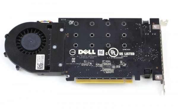 Dell 4x m2 NVMe Drive PCIe Card rear