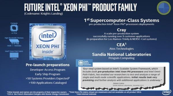 Intel SC15 Xeon Phi Knights Landing Update