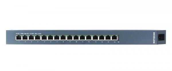 Netgear ProSAFE GSS116E port view