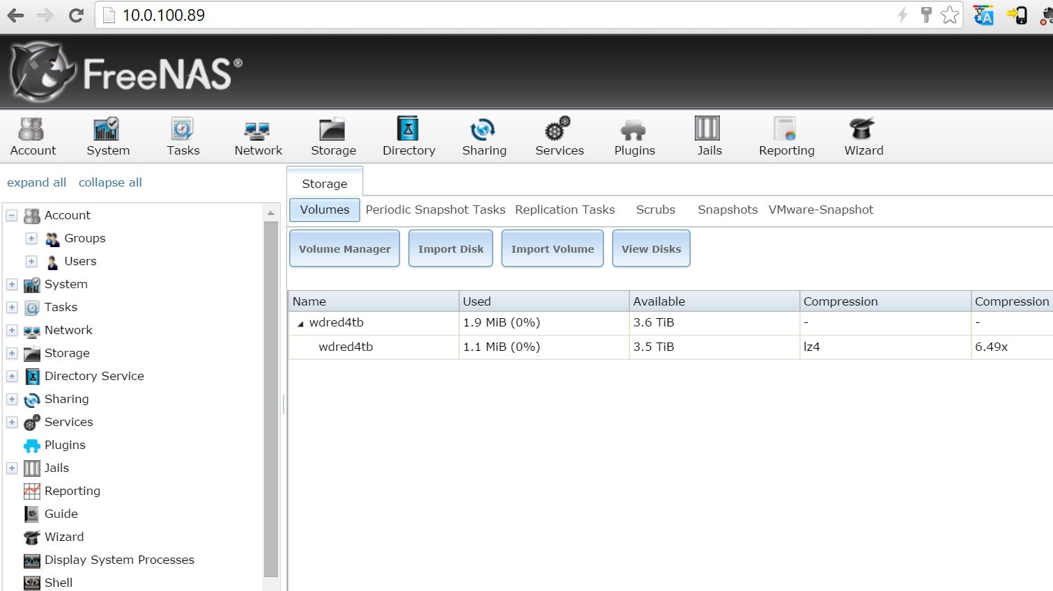 Proxmox FreeNAS - mirrored zpool created - ServeTheHome