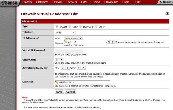 Step 1 - Setup Virtual IP