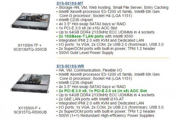 Supermicro Xeon E3-1200 V5 SYS-5019S