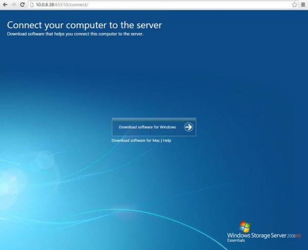 WD Windows Storage Server Connect Client Computer
