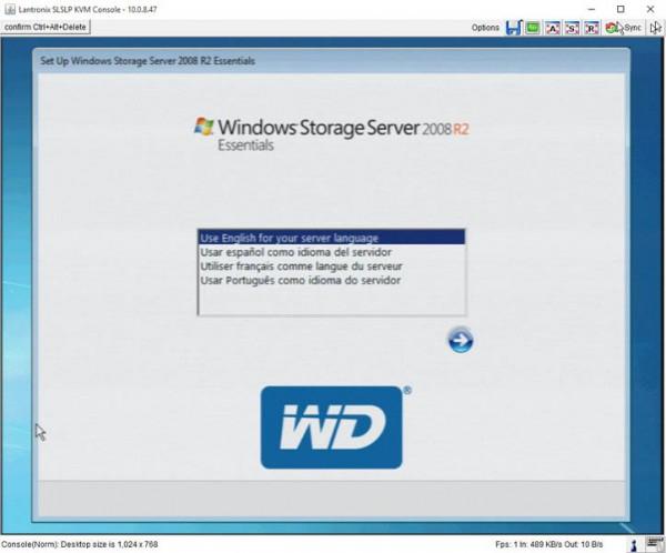 WD Windows Storage Server Setup
