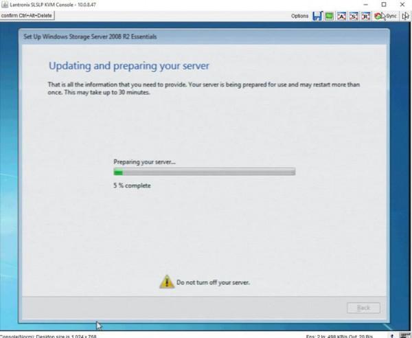 WD Windows Storage Server Setup - wait for updates 90 min into process