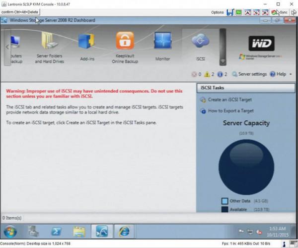 WD Windows Storage Server iSCSI