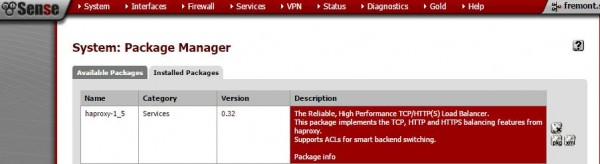 pfSense HTTP HAProxy - package