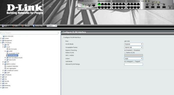 D-Link Switch Web GUI add port to VLAN