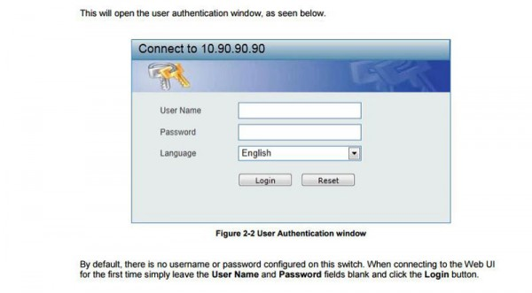 D-Link Switch manual authentication