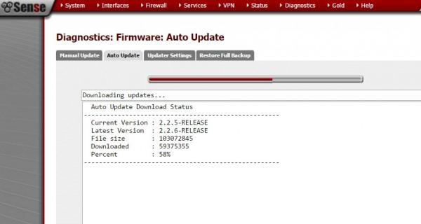 pfSense 2.2.6 Upgrade