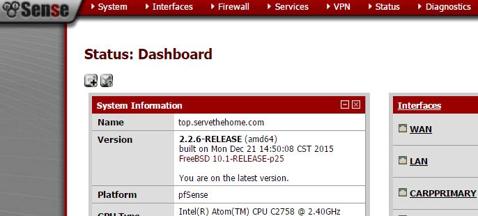 pfSense 2.2.6 release