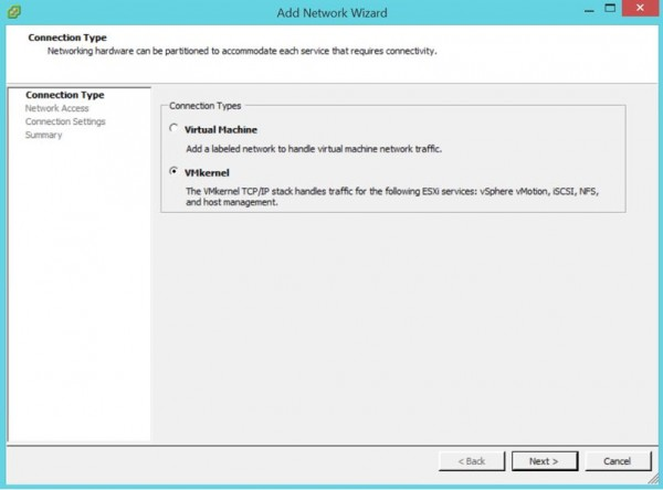 2 node flash vSAN - Add VMkernel
