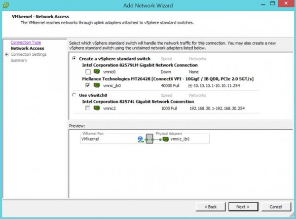 2 node flash vSAN - Add VMkernel - network access