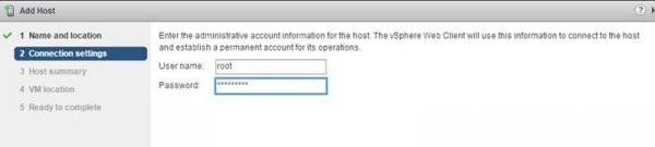 2 node flash vSAN - Enter username and password