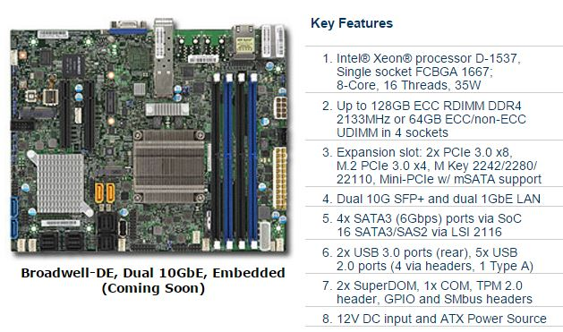 Supermicro X10SDV-7TP4F key features