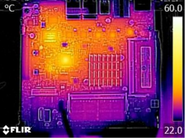 Supermicro X11SBA-LN4F thermal imaging