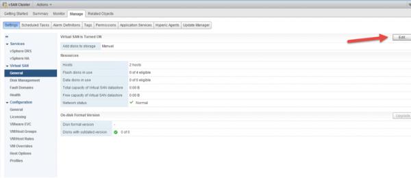 2 node flash vSAN - change virtual disks to automatic