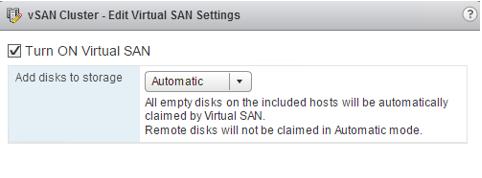 2 node flash vSAN - change virtual disks to automatic verification