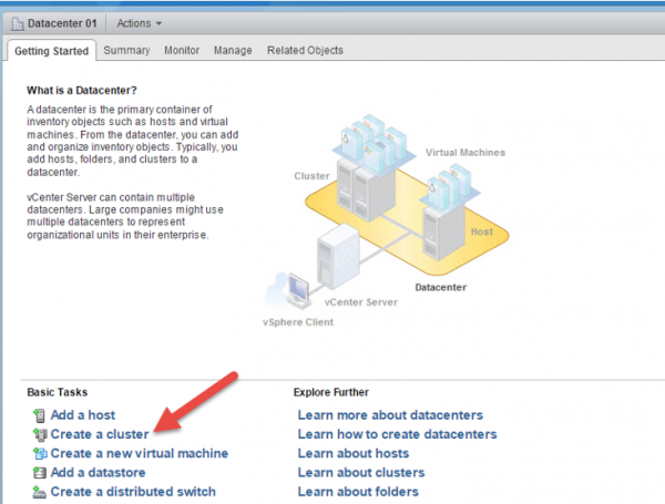 2 node flash vSAN - create a cluster