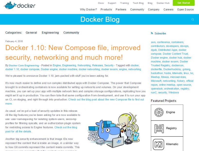 Docker 1.10 released