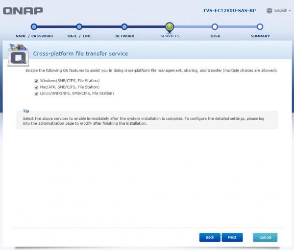 QNAP TVS-EC1280U-SAS-RP - cross platform setup