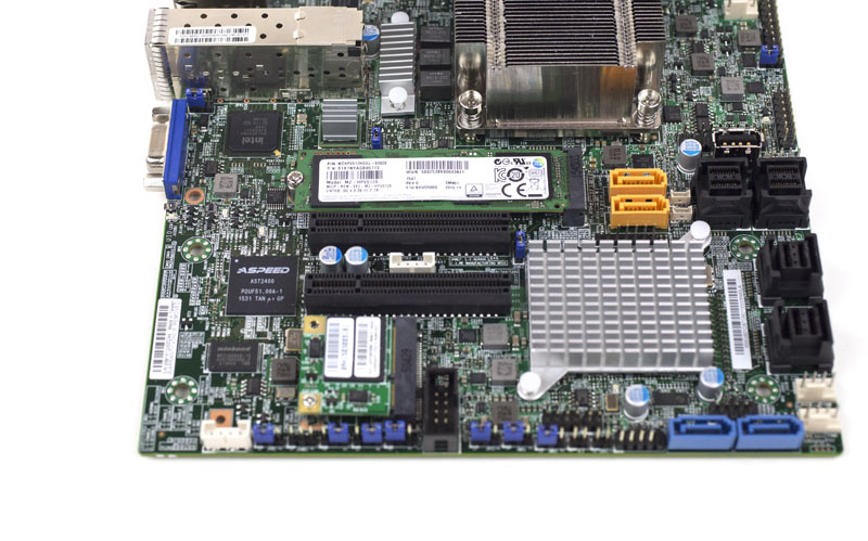 Supermicro X10SDV-7TP8F - PCIe and M2 with Samsung SM951 installed