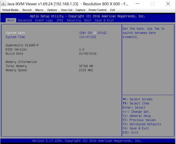 Supermicro X11SAT-F - BIOS