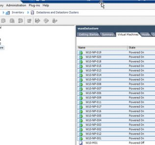 VMware vSAN - 20 VM power on