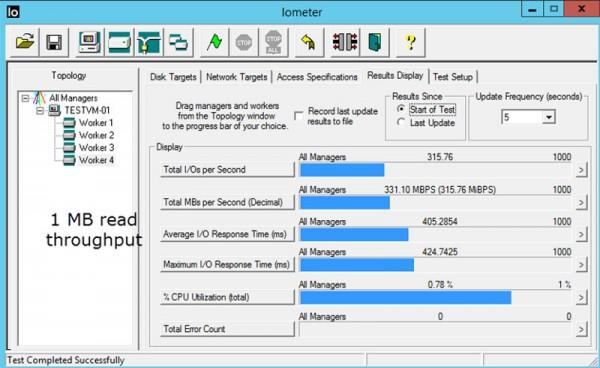VMware vSAN - IOMeter 1MB read