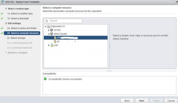 VMware vSAN - create a VM step 4 compute
