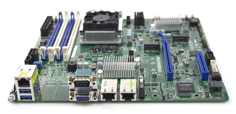 ASRock Rack D1540D4U-2T8R Rear IO ports