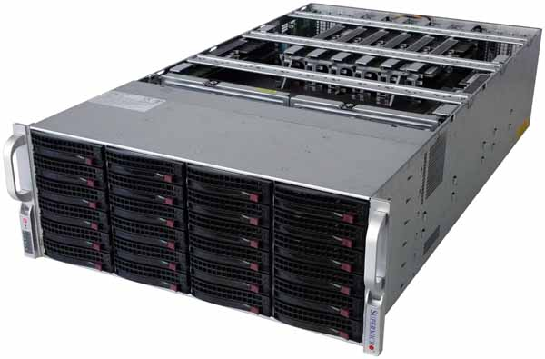 SuperServer 8048B-TR4FT - Lid Off