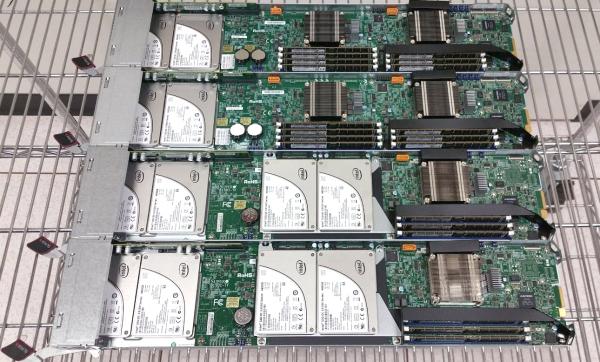 Supermicro 3U MicroBlade Xeon D Sleds Pre-Installation