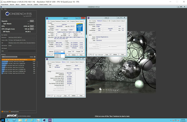 Supermicro SuperServer 8048B-TR4FT Cinebench R15