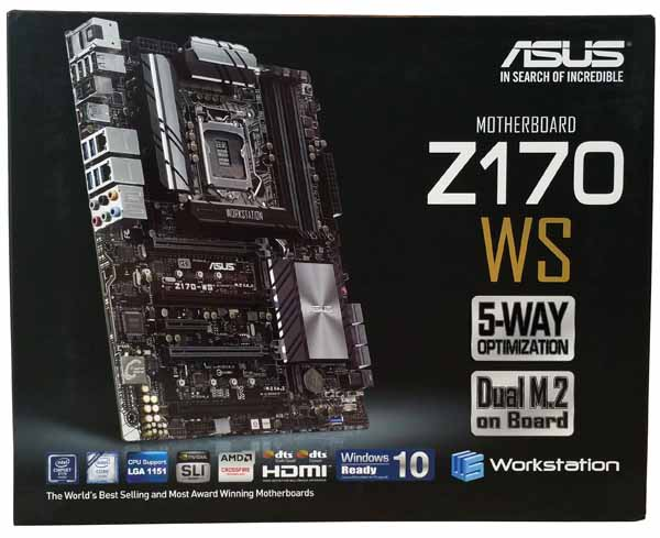 ASUS Z170 WS - Retail Box Front
