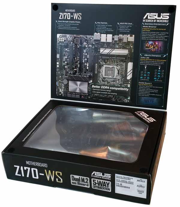 ASUS Z170 WS - Retail Box Open